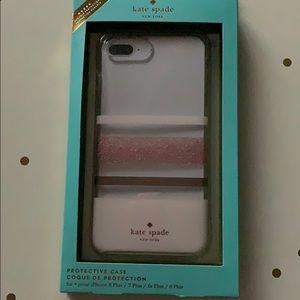 kate spade iPhone 7/8 Plus Rose Gold Glitter Case